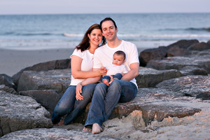 kristen, john and baby andrew - ocean city nj